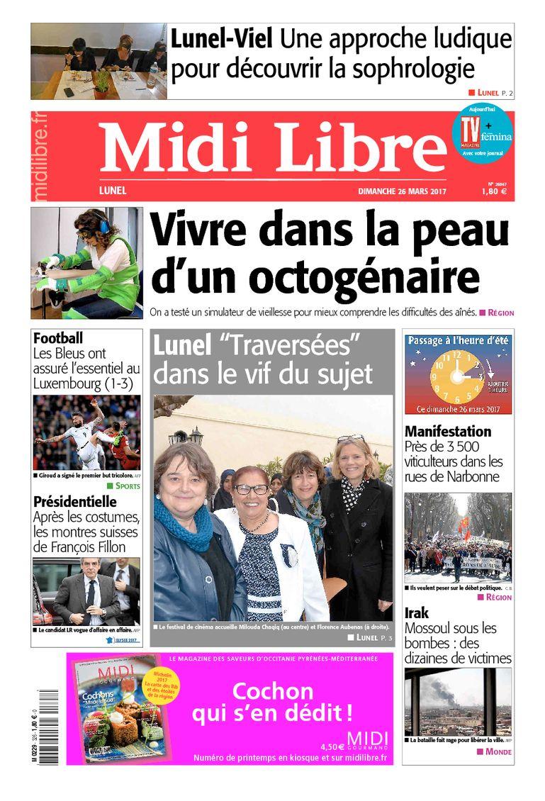 #Lunel A la une de #MidiLibre ce dimanche 26 mars <br>http://pic.twitter.com/P8zhciPaHp