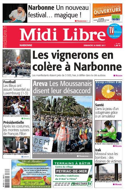 Dans #MidiLibre #Narbonne ce dimanche - Retour sur la manif des viticulteurs avec 3 pages spéciales. On parle aussi magie et nucléaire !<br>http://pic.twitter.com/ykQfe5Lv2C