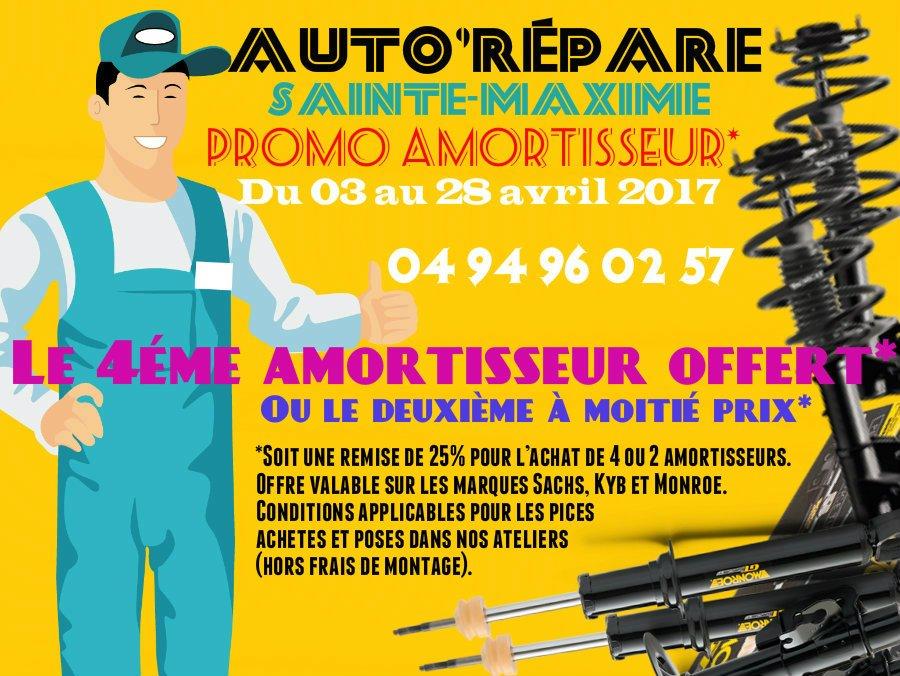 #promos #amortisseurs #le4eme #offert* chez votre #Garage @AutoRepar à @Sainte_Maxime #DigitalMarketing #digital #Marketing #communication<br>http://pic.twitter.com/6iQqzFAEY1