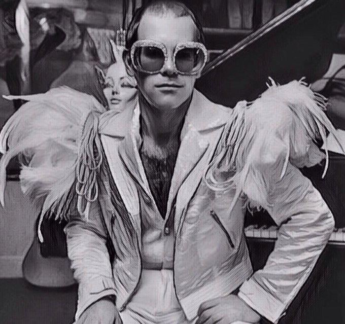 Happy Birthday. Sr.Elton John. Here is 1 of ur pictures redone for a new look-hope u like it.