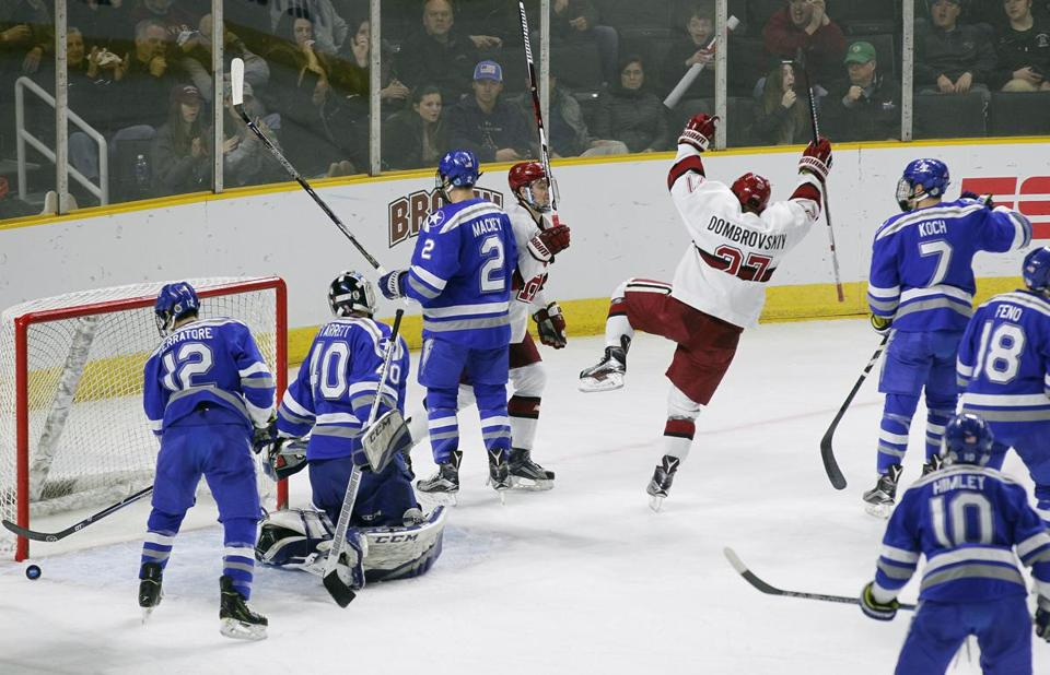 Harvard is headed to the Frozen Four after beating Air Force, 3-2 http...