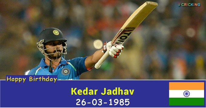 Happy Birthday Kedar Jadhav