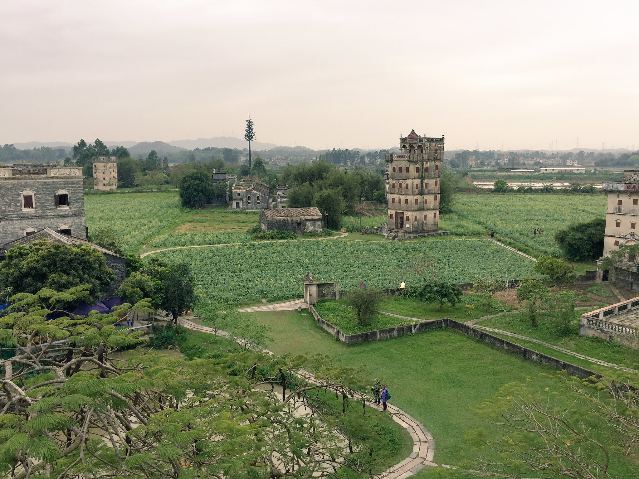 View from the top of Mingshilou, Zili, Kaiping. #cahht17 https://t.co/B2Yb4AgNnK