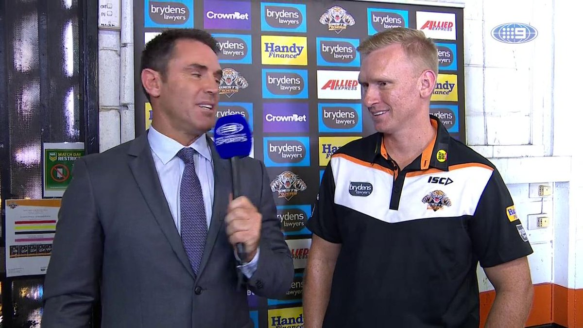 Freddy chats with Andrew Webster ahead of this afternoon's #NRLTigersS...