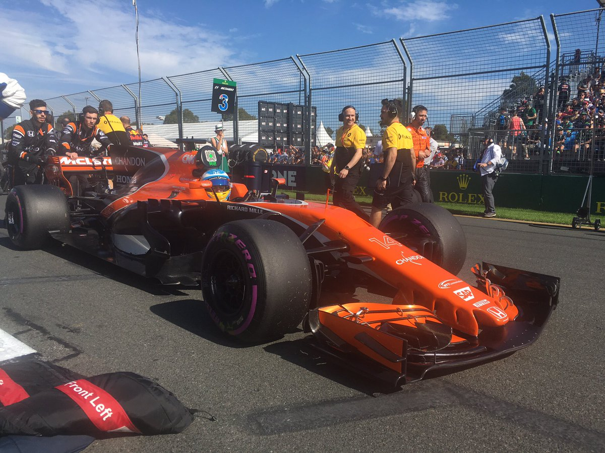 Fernando is the first bring a little orange to the grid. #AusGP 🍊 http...