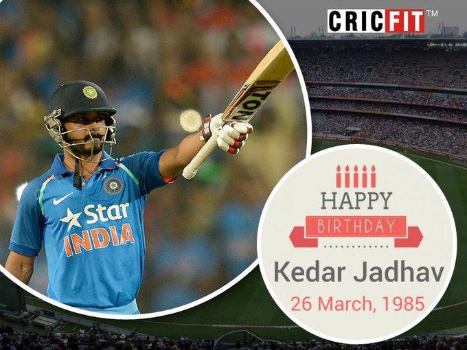 Cricfit Wishes Kedar Jadhav a Very Happy Birthday!