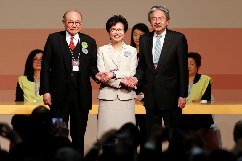 Hong Kong's first female leader a 'tilted bridge' over troubled water
