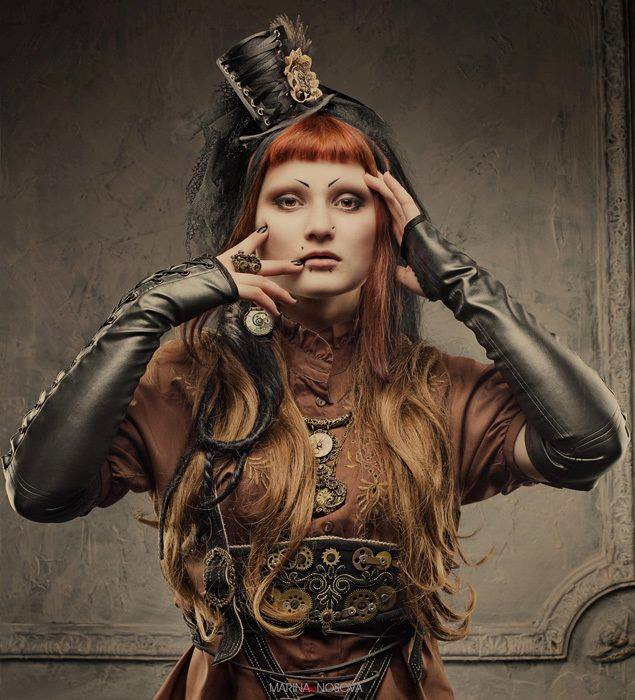 Steampunk Universe ★ https://t.co/uOtF10QisT ★ #Steampunk #vic ... #corset #latex #fashion