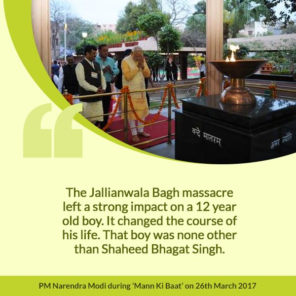 The massacre in Amritsar in 1919 left a deep impact on Shaheed Bhagat...