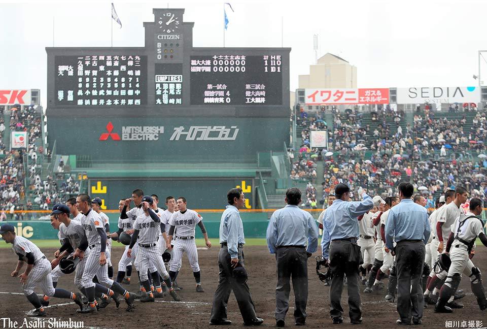 https://t.co/IlhwCAJD2G 選抜高校野球大会2回戦、福岡大大濠対滋賀学園は1―1で延長15回引き分け。再試合は27日の第...