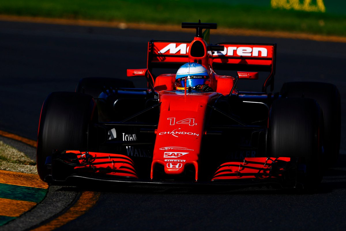 Fernando is continuing to go faster - posting quicker times on every l...