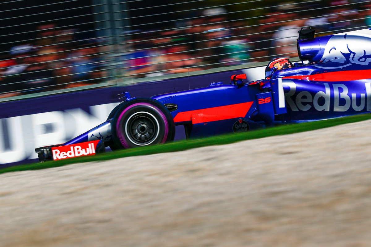 Daniil Kvyat sets the fastest lap of the race with a 1:26.7 at the #Au...