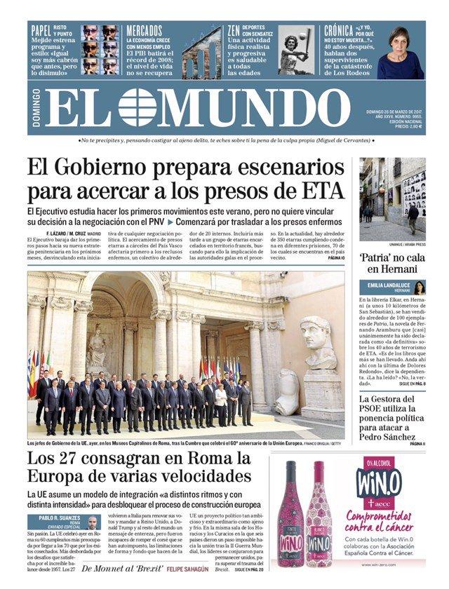 Primeras páginas de los periódicos de hoy #FelizDomingo https://t.co/r...