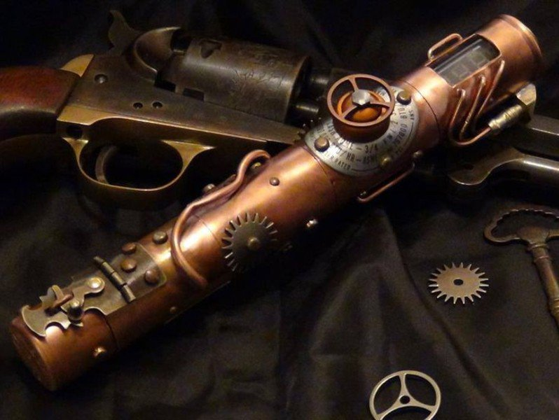 #Steampunk Awesome of the Day: Copper E-cig w/ Cogs & Tiny Pipes by Mike Baker via @steampunkjnkies #SamaCuriosities