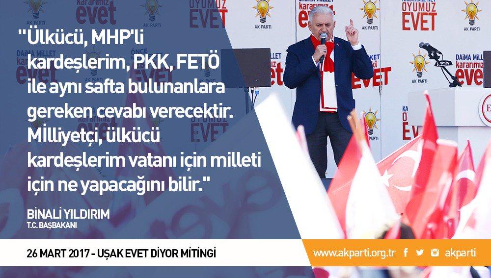 'Ülkücü, MHP'li kardeşlerim, PKK, FETÖ ile aynı safta bulunanlara gere...