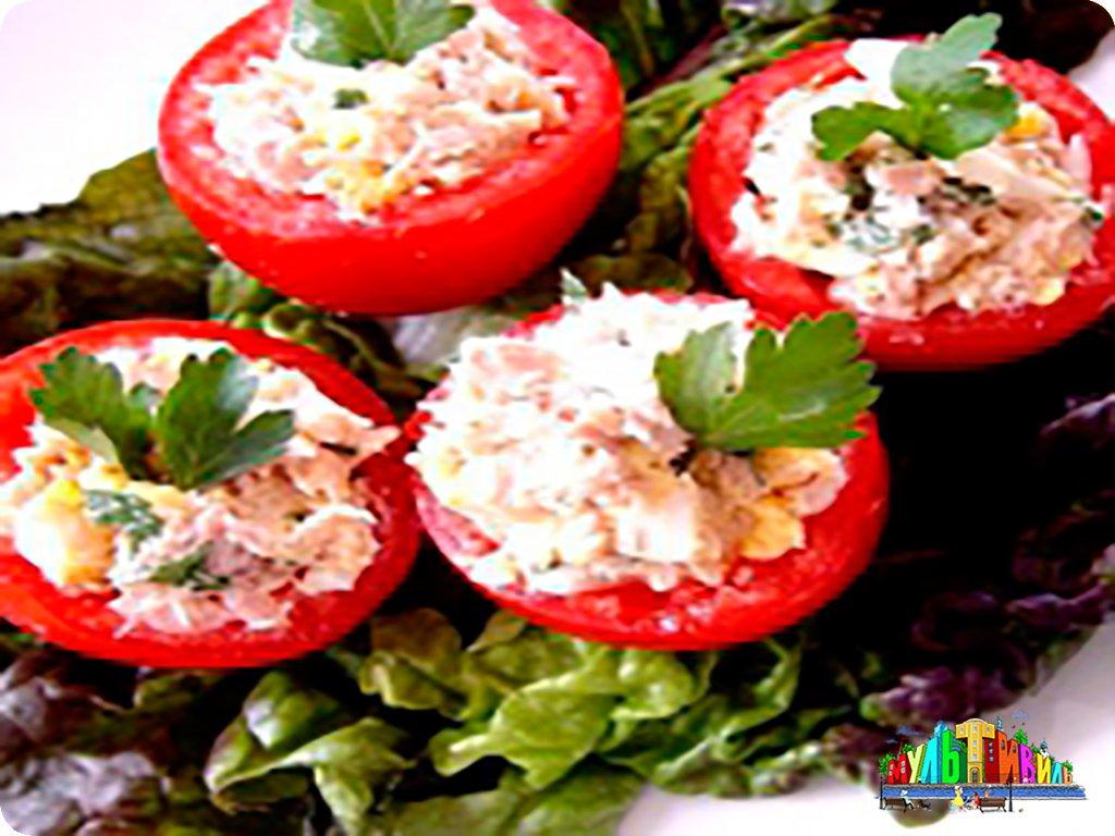 Салат из тунца консервы