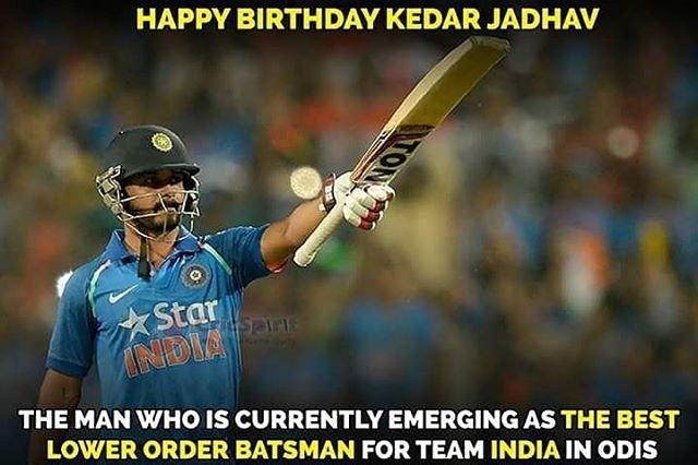 Happy birthday Kedar Jadhav!