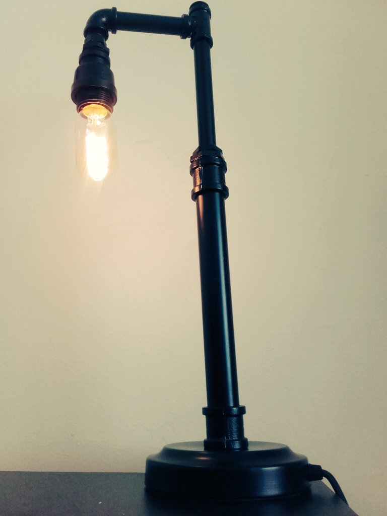 One #Steampunk lamp made out of a water pipe!