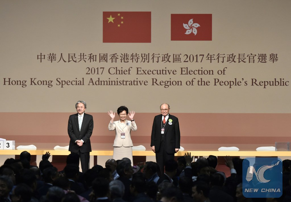 Election of Lam Cheng Yuet-ngor was fair and the newly elected HK chief executive meets standards: central gov't