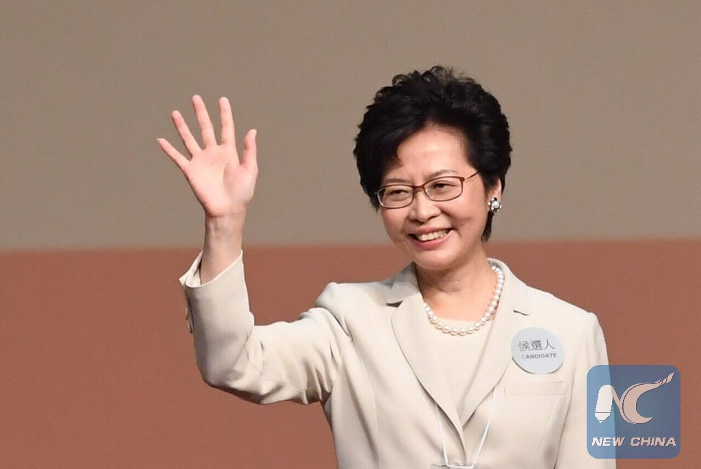 Head of Liaison Office in HK congratulates Lam Cheng Yuet-ngor on her election victory