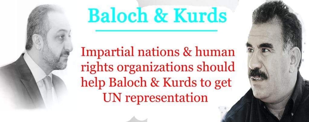 Impartial nations &amp; human rights organizations should help #Baloch &amp; #Kurds to get @UN representation. @amnesty_de  @PollaGarmiany @CDU <br>http://pic.twitter.com/LnoiLoVo9N