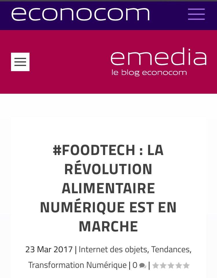 #FoodTech : la révolution #alimentaire numérique est en marche   https:// blog.econocom.com/blog/foodtech- la-revolution-alimentaire-numerique-est-en-marche/ &nbsp; …   via @econocom  #Food #Alimentation #Digital #iot<br>http://pic.twitter.com/6v3zLEsKZK