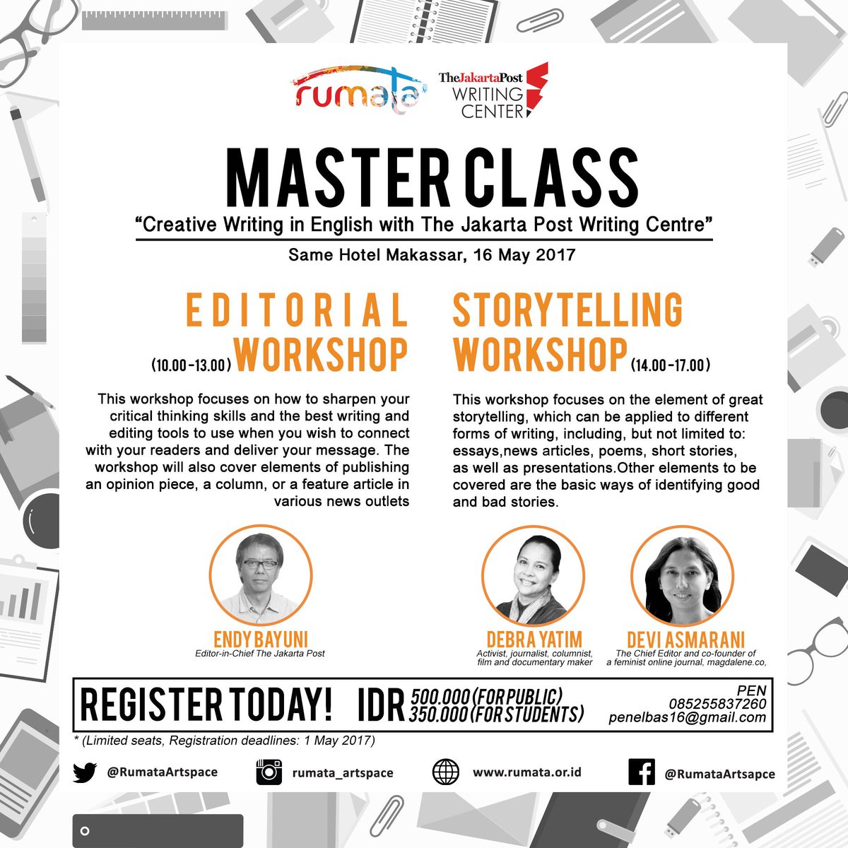Creative writing workshop jakarta     Fresh Essays     www
