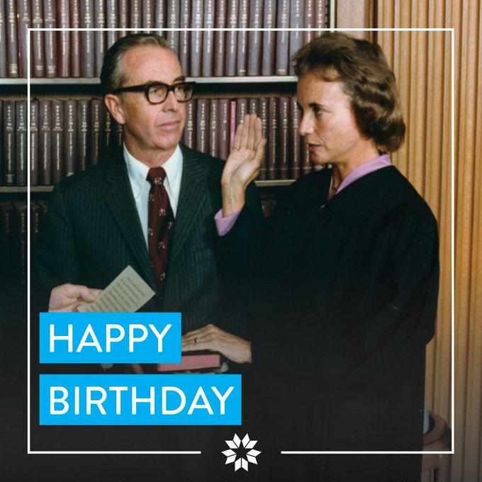 Happy 87th birthday, former Supreme Court Justice Sandra Day O\Connor!