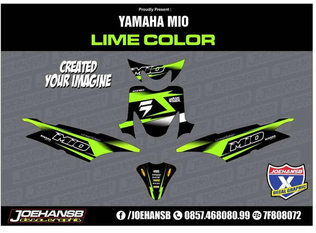 Jualdecal Hashtag On Twitter - Mio decalsyamaha mio sporty green force lime color striping stickers