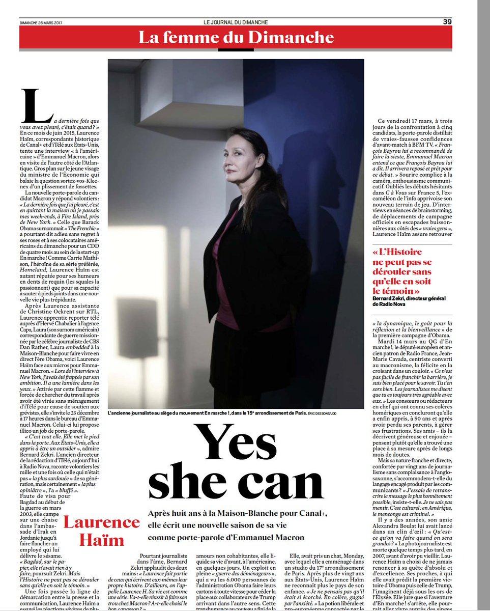 #JDD#portrait#Laurence Haïm#UNE femme engagée!#prise de risques <br>http://pic.twitter.com/hQTRTOAi8X