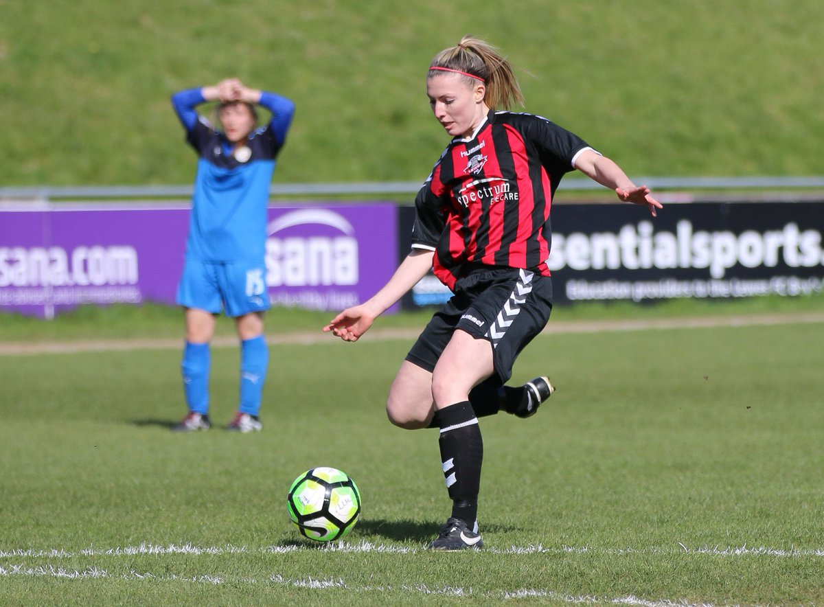 Sian Heather scores Lewes's second goal against C&K Basildon, March 26 2017