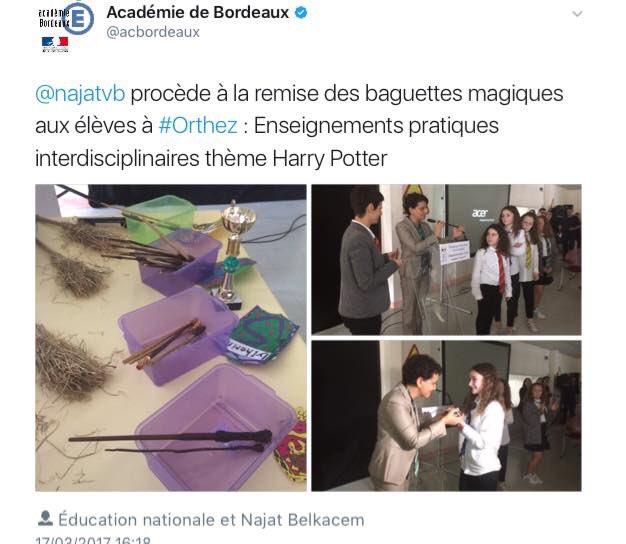 Avec les zélites autour de Najat Vallaud-Belkassine, l&#39;éducation, c&#39;est magique! #abracadabra(ntesque) <br>http://pic.twitter.com/oPA3dD5EAN