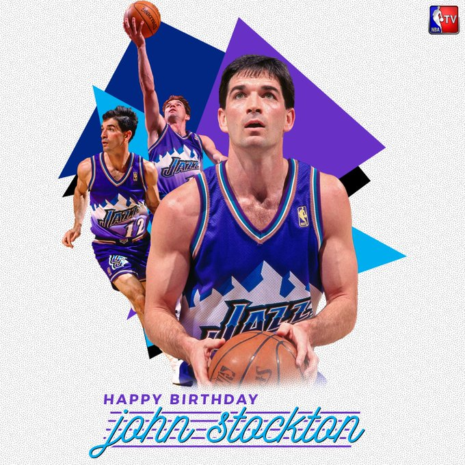To wish legend, 10x All-Star & Hall of Famer John Stockton a Happy Birthday!