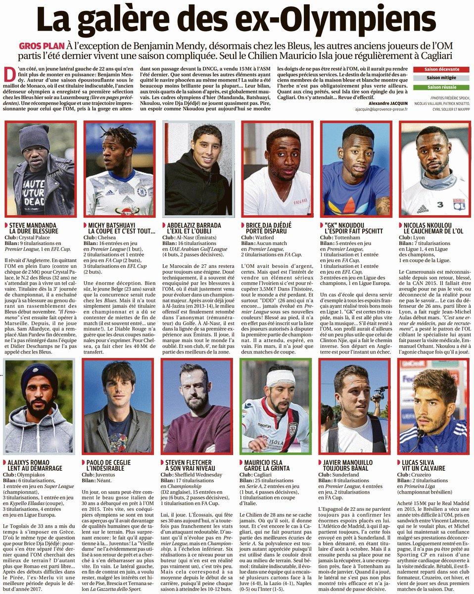 Très bon article de @OMLaProvence qui nous évoque les performances de nos anciens joueurs. #TeamOM #MercatOM <br>http://pic.twitter.com/3zzj25OBnB