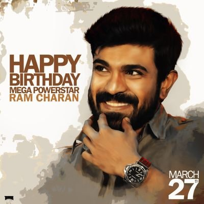 Advance Happy Birthday to Mega Powerstar Ram Charan Tej. Love from all Pawan kalyan fans
