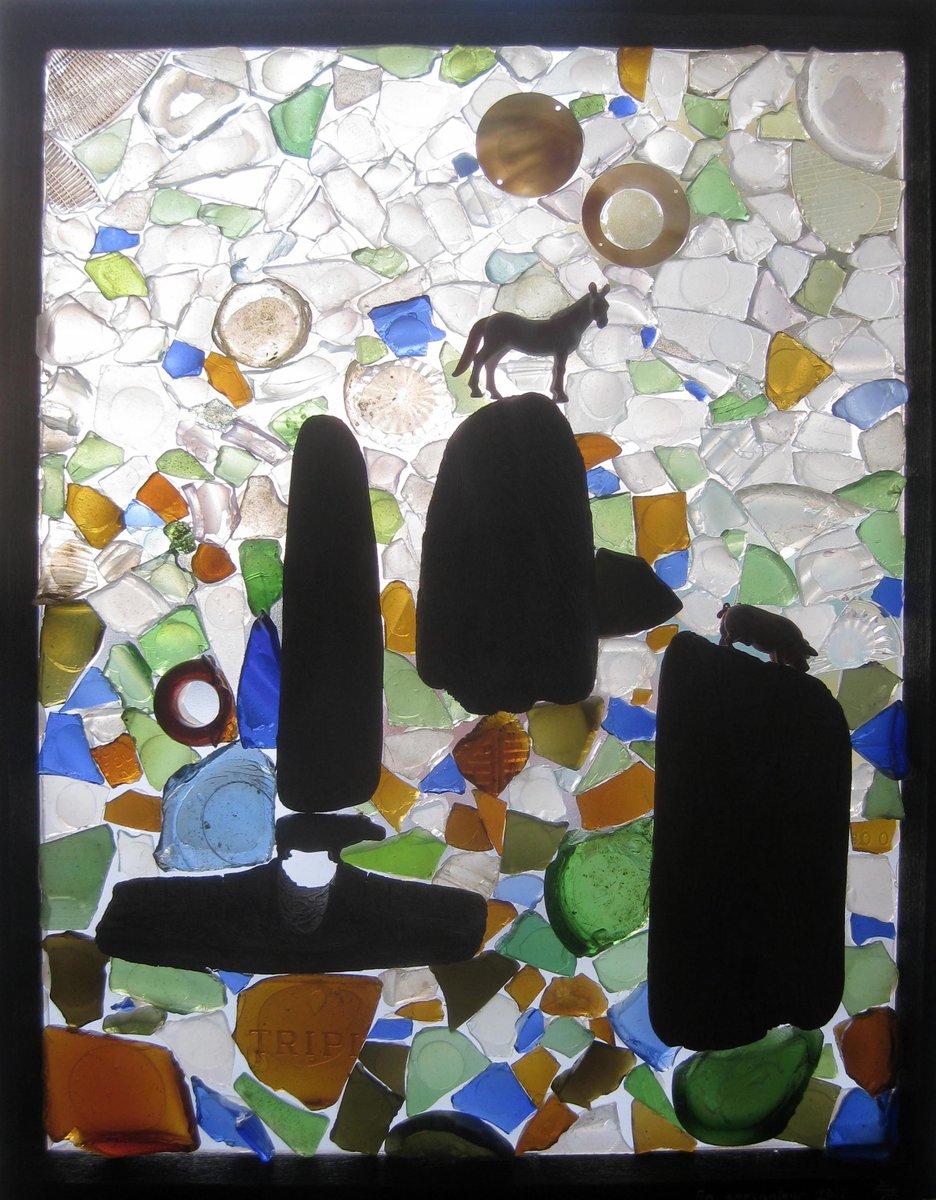 Mosaïque transparente &#39;En apesanteur&#39;, 2017. En expo à @wardnasse gallery, NY, 1er-15 avril 2017! #art #recup #ny #soho<br>http://pic.twitter.com/7zRD0TMkww