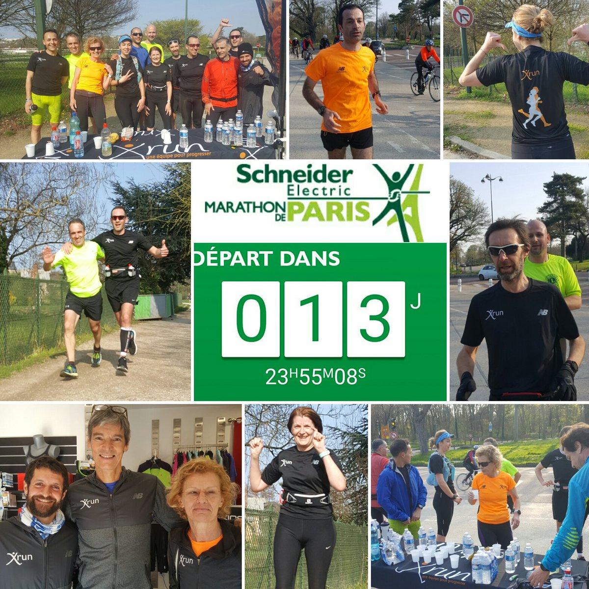 Dernière sortie longue avant @parismarathon encadrée par entraîneurs #Xrun @SchneiderElec @NewBalanceFR #running #marathon <br>http://pic.twitter.com/rWMU86QjSr