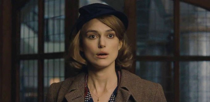 "Birthdays can sneak up on ya.  Happy Birthday, Keira Knightley! Seen here in ""Imitation Game\"" (2014)."
