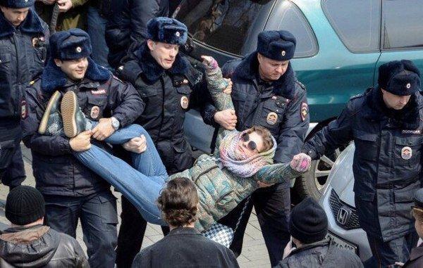 На акции против коррупции в Москве задержали более 130 человек: задержания продолжаются - Цензор.НЕТ 8812