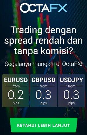 OCTAFX - TRADING DENGAN SPREAD RENDAH - DEPOSIT MINIMAL $5