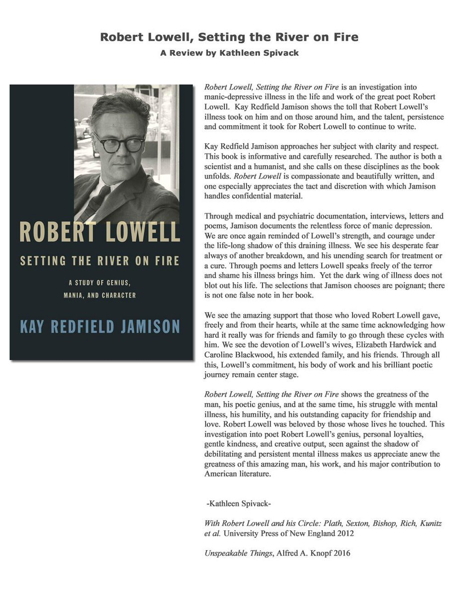 with robert lowell and his circle spivack kathleen