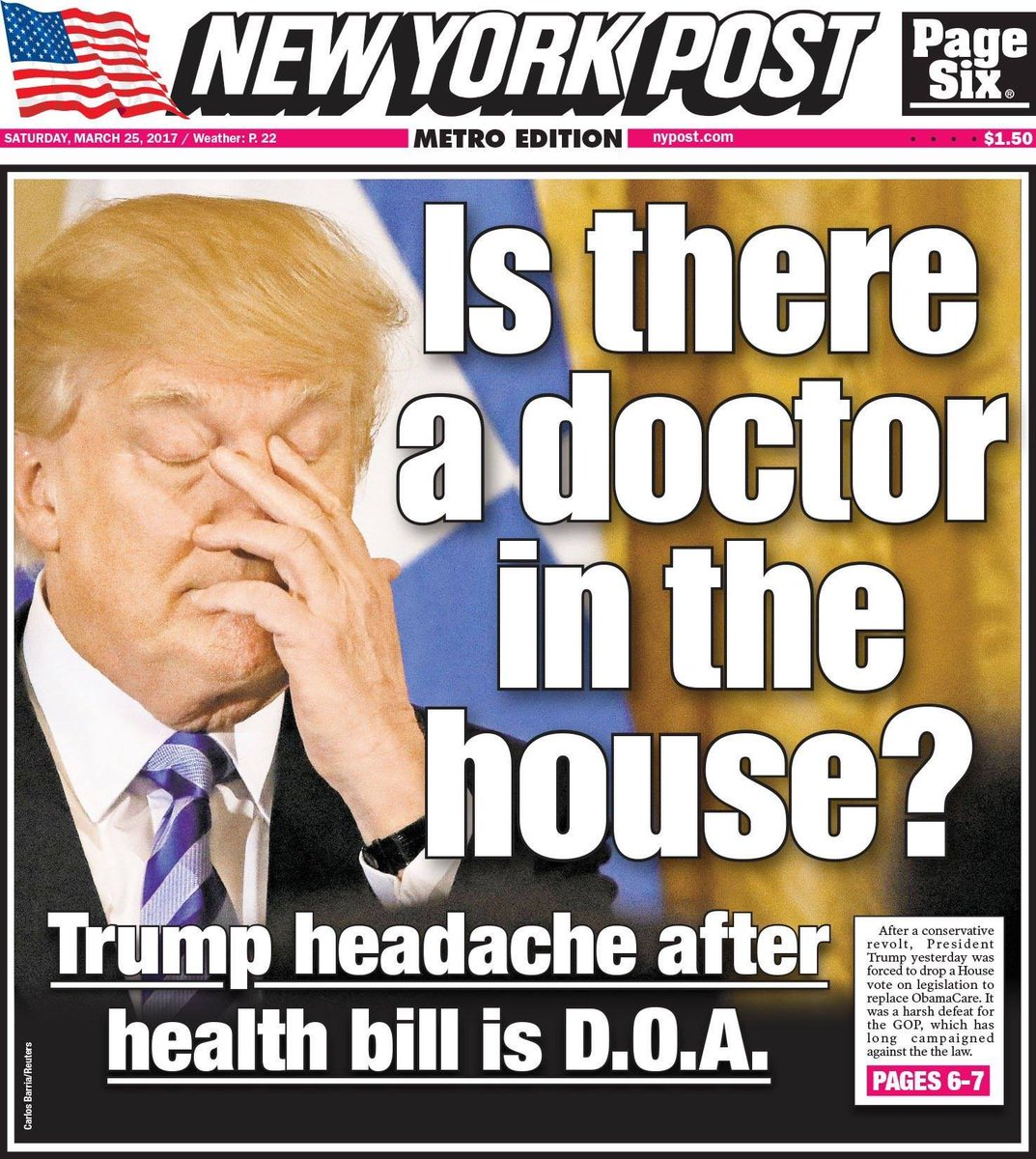 Trump! Bernie has a pill that can fix your headache!  It&#39;s called #SinglePayerHealthcare #Medicare4All.  All you have to do is swallow it. <br>http://pic.twitter.com/MObOBpmeBL