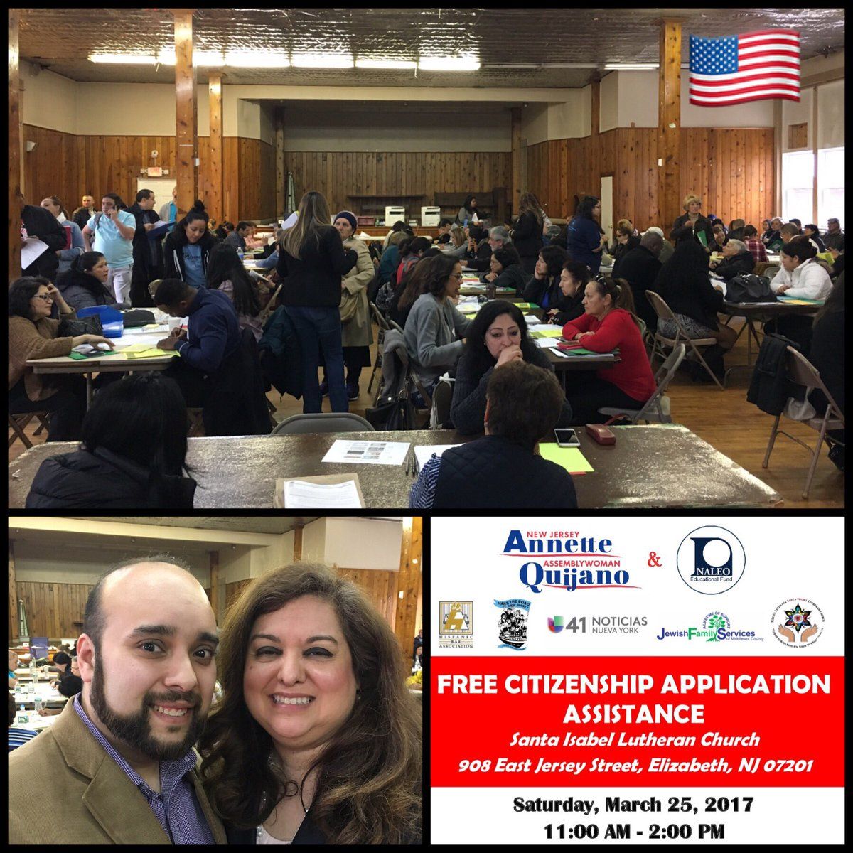 Huge THANKS to NJ Asw. @AnnetteQuijano, partners, &amp; volunteers for successful #citizenship workshop yesterday. #takeaction  @NALEO<br>http://pic.twitter.com/asWYwzi6rt