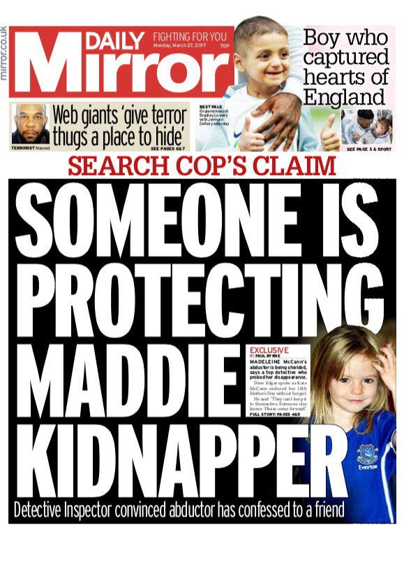 Someone is protecting Madeleine McCann's kidnappers' claims cop who spent years hunting her C73--FLW4AArkHA