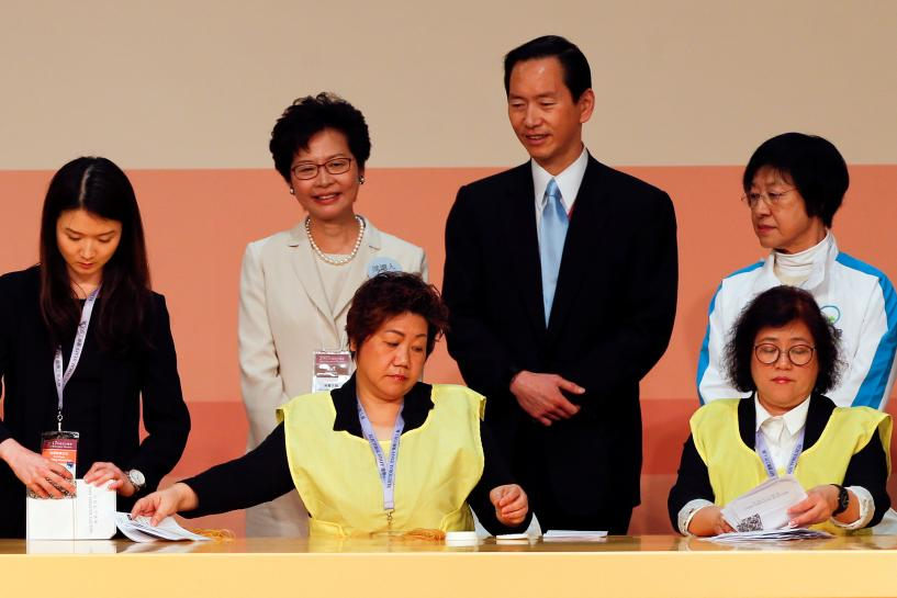 #Carrie Lam selected as  #HongKong&#39;s next leader: Cable TV  http:// 10a.us/94rk  &nbsp;  <br>http://pic.twitter.com/V8p18UcLOj