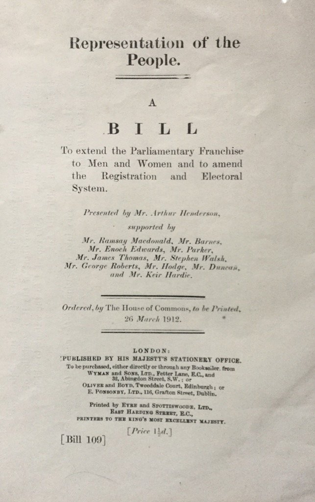 105 years ago today - the parliamentary labour party table a bill to give men and women #equalvotes @labour_history https://t.co/Gzvv8n6E8Z