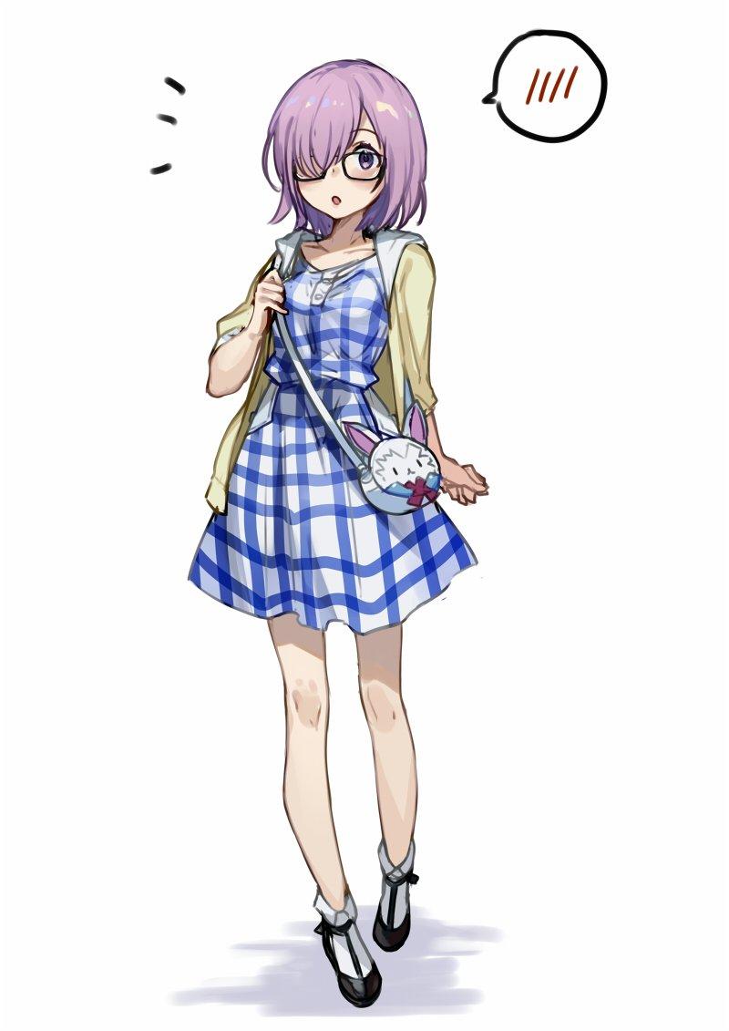 私服マシュちゃん描きました!別パターンも見てみたくて勝手にお洋服差分も描いてみました!どのマシュちゃんがお好みですか🙂? #FGO #FateGO