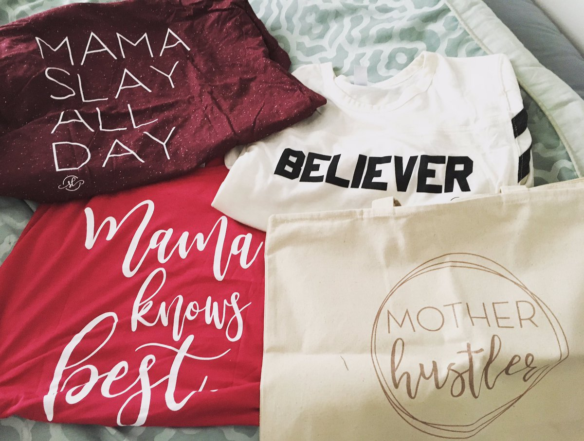 I love @SWEETEES_ ! #mamaslayallday #believer #mamaknowsbest #motherhustler #workingmom #thanksforthefreetote
