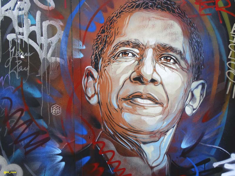 #Paris13 #streetart  #BarackObama par #C215 + ici :  https:// goo.gl/4wxYmG  &nbsp;  <br>http://pic.twitter.com/wFYNkPIgNy