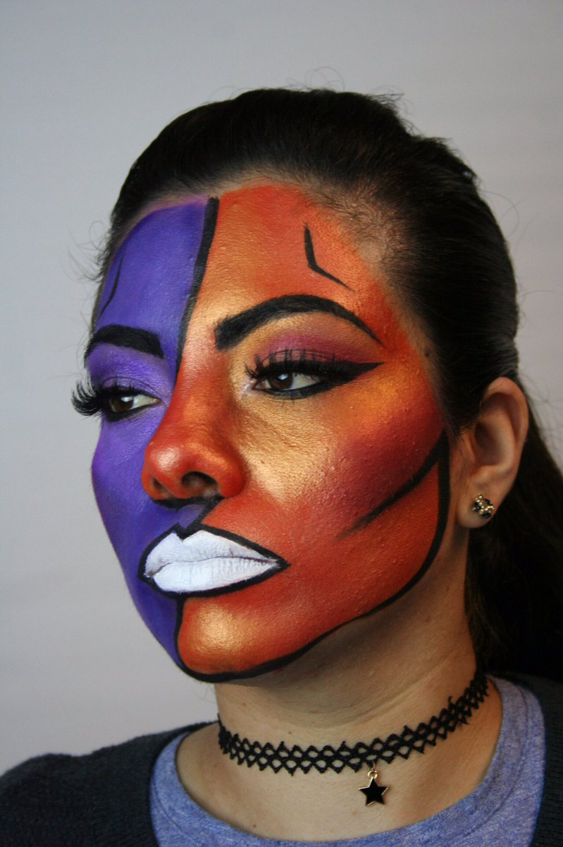 Abstract Runway Makeup